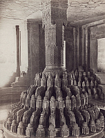 0072172 © Granger - Historical Picture ArchiveINDIA: FATEHPUR SIKRI.   Central pillar of the Diwan-i-Khas pavillion, or Private Audience Hall, in the Fatehpur Sikri palace complex. The elaborately carved the column was considered a symbol of Akbar's power. Photographed, c1890.