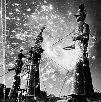 0095090 © Granger - Historical Picture ArchiveINDIA: FIREWORKS, 1960.   Fireworks display during a holiday celebration in India, 1960.