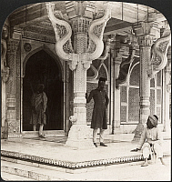 0323218 © Granger - Historical Picture ArchiveINDIA: FATEHPUR SIKRI, c1907.   'Entrance to the beautiful marble tomb of St. Selim Chishti, Fatehpur Sikri, India.' Stereograph, c1907.