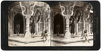 0323219 © Granger - Historical Picture ArchiveINDIA: FATEHPUR SIKRI, c1907.   'Entrance to the beautiful marble tomb of St. Selim Chishti, Fatehpur Sikri, India.' Stereograph, c1907.