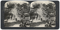 0323264 © Granger - Historical Picture ArchiveINDIA: JAIPUR, c1907.   'The broad spacious Johri bazaar, a typical street in Jaipur, India's mdoel city.' Stereograph, c1907.