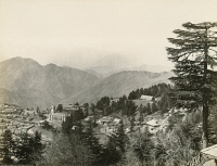 0350762 © Granger - Historical Picture ArchiveINDIA: SHIMLA.   A view of Shimla, India. Photograph by Francis Frith, c1860.
