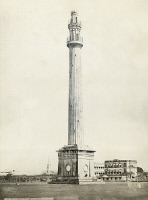 0350766 © Granger - Historical Picture ArchiveINDIA: CALCUTTA.   The Shaheed Minar (Ochterlony Monument) in Calcutta, India. Photograph by Francis Frith, c1865.