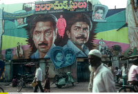 0407519 © Granger - Historical Picture ArchiveINDIA: MOVIE POSTER.   Movie poster in Guntur, Andhra Pradesh, India. Photograph, c1992. Full credit: Ruppert - ullstein bild / Granger, NYC -- All rights reserved.