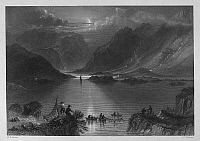 0095520 © Granger - Historical Picture ArchiveIRELAND: KILLARY HARBOR.   View of the Killary Harbor, a fjord in the Connemara region of County Galway, Ireland. Steel engraving, English, c1840, after William Henry Bartlett.