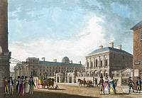0622843 © Granger - Historical Picture ArchiveDUBLIN: PROVOST'S HOUSE.   The Provost's House at Trinity College in Dublin, Ireland. Print by James Malton, 1794.