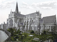 0622848 © Granger - Historical Picture ArchiveDUBLIN: ST. PATRICK'S.   St. Patrick's Cathedral in Dublin, Ireland. Photochrome, c1895.