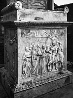 0003792 © Granger - Historical Picture ArchivePOMPEII: TEMPLE ALTAR.   Sacrificial scene at a tripod altar in the Temple of Augustus in the Forum at Pompeii.