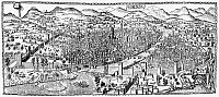 0005639 © Granger - Historical Picture ArchiveITALY: FLORENCE, c1500.   View of Florence, Italy. Woodcut, c1500, attributed to Lucantonio degli Uberti.