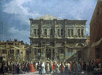 0020021 © Granger - Historical Picture ArchiveCANALETTO: VENICE.   'Feast Day of Saint Roch.' Oil on canvas by Canaletto, c1735. RESTRICTED OUTSIDE US.