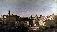 0043307 © Granger - Historical Picture ArchiveCOROT: ROMAN FORUM.   The Roman Forum seen from the Farnese Garden. Oil on canvas by Jean-Baptiste Camille Corot, 19th century.