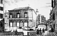 0045203 © Granger - Historical Picture ArchiveVENICE: TEATRO LA FENICE.   Il Teatro La Fenice. Line engraving, 19th century.