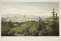 0047262 © Granger - Historical Picture ArchiveFLORENCE, ITALY, 1819.   View of the city of Florence, Italy. Steel engraving, English, 1819, after a drawing by Elizabeth Frances Batty.