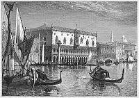 0070279 © Granger - Historical Picture ArchiveVENICE: DUCAL PALACE.   Wood engraving, c1875, after Harry Fenn.