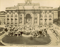 0071975 © Granger - Historical Picture ArchiveROME: FONTANA di TREVI.   View of the Trevi Fountain. Photograph, 1890s.
