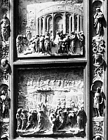 0078254 © Granger - Historical Picture ArchiveGHIBERTI: GATES OF PARADISE.   Detail of bronze panels of the 'Gates of Paradise' by Lorenzo Ghiberti from the Baptistry of San Giovanni, Florence.