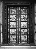0078255 © Granger - Historical Picture ArchiveGHIBERTI: GATES OF PARADISE.   Bronze doors of the Bapistry of San Giovanni, Florence, by Lorenzo Ghiberti.