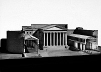 0095940 © Granger - Historical Picture ArchiveROME: TEMPLE OF MARS.   Model of the Temple of Mars Ultor at the Forum of Augustus in ancient Rome, 1st century A.D.
