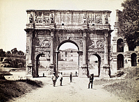 0095942 © Granger - Historical Picture ArchiveROME: ARCH OF CONSTANTINE.   View of the ruins of the Arch of Constantine in Rome, Italy. Photograph, late 19th century.