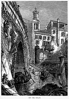0096084 © Granger - Historical Picture ArchiveVENICE: RIALTO, c1875.   View from beneath the Rialto on the Grand Canal in Venice, Italy. Wood engraving, c1875, after Harry Fenn.