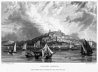 0096095 © Granger - Historical Picture ArchiveITALY: SARDINIA, 1832.   View of Cagliari, on the coast of the Italian island of Sardinia. Steel engraving, English, 1832, by Edward Finden.