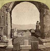 0110120 © Granger - Historical Picture ArchivePOMPEII: FORUM, c1880.   Ruins of the forum at the ancient Roman city of Pompeii, Italy. Stereograph, c1880.