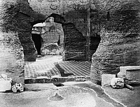 0119837 © Granger - Historical Picture ArchiveROME: BATHS OF CARACALLA.   Ruins of the Baths of Caracalla (Terme di Caracalla) at Rome, Italy, dating from the early 3rd century A.D. Photograph, late 19th century.