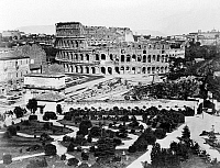 0120503 © Granger - Historical Picture ArchiveROME: COLOSSEUM.   A view of the ruins of the Colosseum in Rome, Italy. Photograph, late 19th century.