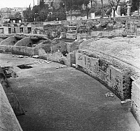 0124113 © Granger - Historical Picture ArchiveROME: LUDUS MAGNUS.   View of the eastern part of the Ludus Magnus during excavations, c1961.