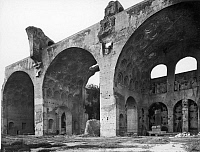 0124122 © Granger - Historical Picture ArchiveROME: BASILICA.   Ruins of the Basilica of Maxentius and Constantine in the Roman Forum, built 4th century A.D.