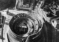 0125004 © Granger - Historical Picture ArchiveROME: COLOSSEUM, c1940.   Aerial view of the Colosseum in Rome, c1940.