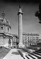 0133673 © Granger - Historical Picture ArchiveROME: TRAJAN'S COLUMN.   View of Trajan's Column in the Forum of Trajan, with the Church of Sacro Nome di Maria (left) in Rome, Itay. Photograph, c1960.
