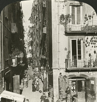 0326584 © Granger - Historical Picture ArchiveITALY: FLORENCE, 1902.   A narrow street in Florence, Italy. Stereograph, 1902.