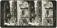 0326585 © Granger - Historical Picture ArchiveITALY: FLORENCE, 1902.   A narrow street in Florence, Italy. Stereograph, 1902.