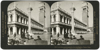 0326595 © Granger - Historical Picture ArchiveVENICE: PIAZZA SAN MARCO.   The library and campanile at the Piazza San Marco in Venice, Italy. Stereograph, 1908.
