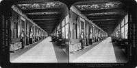 0326815 © Granger - Historical Picture ArchiveFLORENCE: UFFIZI GALLERY.   A corridor in the Uffizi Gallery in Florence, Italy. Stereograph, 1901.