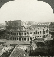 0326841 © Granger - Historical Picture ArchiveROME: COLOSSEUM.   Ruins of the Colosseum in Rome, Italy. Stereograph, early 20th century.