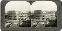 0326842 © Granger - Historical Picture ArchiveROME: COLOSSEUM.   Ruins of the Colosseum in Rome, Italy. Stereograph, early 20th century.