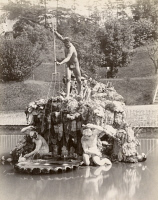 0351441 © Granger - Historical Picture ArchiveFLORENCE: BOBOLI GARDENS.   The Fountain of Neptune by Stoldo Lorenzi in Boboli Gardens in Florence, Italy. Photograph, c1870.