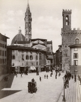 0351450 © Granger - Historical Picture ArchiveITALY: FLORENCE.   View of the Piazza San Firenze in Florence, Italy. Photograph by Carlo Brogi, c1870.