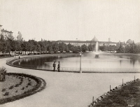 0351554 © Granger - Historical Picture ArchiveITALY: FLORENCE.   The fountain and gardens of the Fortezza da Basso in Florence, Italy. Photograph, c1870.