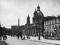 0351558 © Granger - Historical Picture ArchiveROME: PIAZZA NAVONA.   Piazza Navona in Rome with the Church of Sant'Agnese in Agone and the Palazzo Pamphilj. Photograph, c1912.