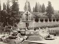 0351559 © Granger - Historical Picture ArchiveITALY: FLORENCE.   The Fontana del Carciofo (Artichoke Fountain) designed by Giovanni Susini in Boboli Gardens behind Pitti Palace in Florence, Italy. Photograph, c1870.