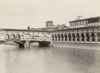 0351561 © Granger - Historical Picture ArchiveITALY: FLORENCE.   View of the Ponte Vecchio over the Arno river in Florence, Italy. Photograph, c1870.