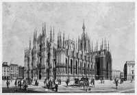 0370138 © Granger - Historical Picture ArchiveITALY: MILAN CATHEDRAL.   Lithograph published by Antonio Vallardi, 19th century.