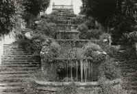 0407728 © Granger - Historical Picture ArchiveITALY: VILLA, 1925.   A staircase at Villa Torlonia in Frascati, Italy. Photograph by Frances Benjamin Johnston, 1925.