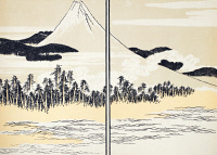 0005470 © Granger - Historical Picture ArchiveJAPAN: MOUNT FUJI.   Woodblock print from the 'Manga' of Katsushika Hokusai, 1816.