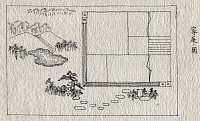 0127341 © Granger - Historical Picture ArchiveJAPAN: HOUSE AND GARDEN.   Japanese plan of a house and garden. Pen and ink drawing, c1878, possibly by Kano.