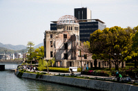 0622697 © Granger - Historical Picture ArchiveHIROSHIMA PEACE MEMORIAL, 2015. The Atomic Bomb Dome, formerly the Prefectural Industrial Promotion Hall, in the Hiroshima Peace Memorial Park. Photograph, 17 April 2015. Full Credit: ullstein bild - Tanner / Granger, NYC. All Rights Reserved.