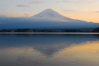 0622710 © Granger - Historical Picture ArchiveMOUNT FUJI, 2007.   Mount Fuji as viewed from across Lake Kawaguchi. Photograph, 3 January 2007. Full Credit: ullstein bild - Vodjani / Granger, NYC. All Rights Reserved.